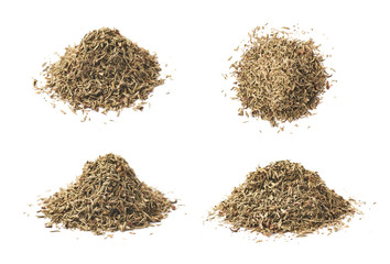 Pile of dried thyme seasoning