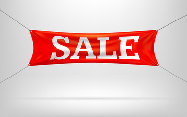 Red sale banners Vector illustration