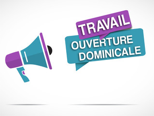 mégaphone : ouverture dominicale