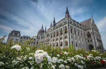 Parliament building in Budapest in sunny ,summer day .Hungary