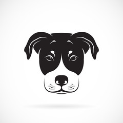 Vector image of an dog head on white background