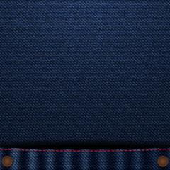 Blue jeans close up pocket vector illustration