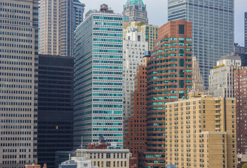 Apartment buildings of downtown New York City, USA