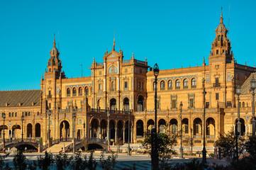 Plaza de España, Seville, Spain, Ornate building
