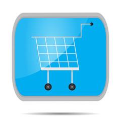 Cart shopping button icon