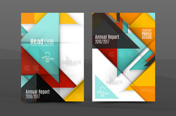 Colorful geometric A4 business print template