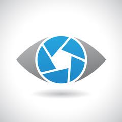 Logo Icon of a Shutter Eye Vector Illustration