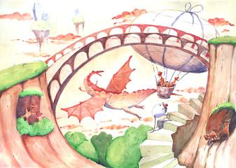 dragon, illustration
