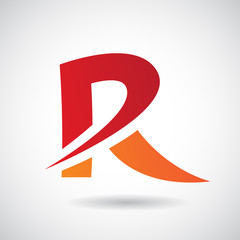 Logo Shape and Icon of Letter R, Vector Illustration
