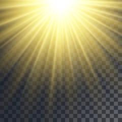 Sun rays effect