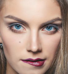 Young model with makeup