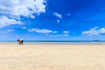 Suan Son Pradipat Beach with blue sky