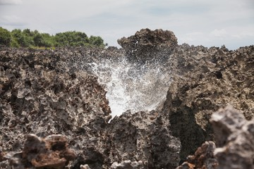 Holiday in Bali, Indonesia - Nusa Dua Water Blow