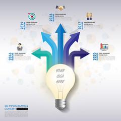 Design business concept timeline. vector template background.