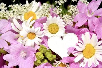 Grußkarte - Blumenstrauß - Sommerblumen