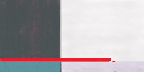 Minimal art picture with red lines