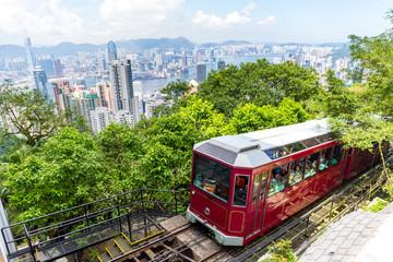 Peak Tram and Hong Kong city skyline Wall mural