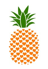 Pineapple with hearts