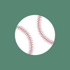 Flat icon baseball ball. Vector illustration.