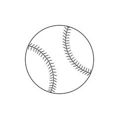 Line icon baseball ball. Vector illustration.