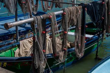 Filets de pêche.