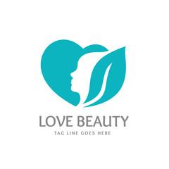 Love beauty logo,green eco logo,people logo
