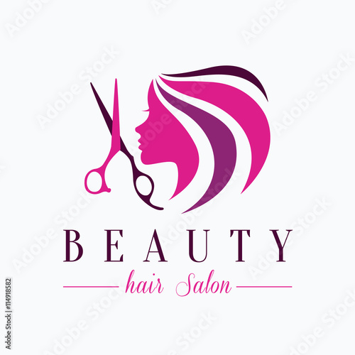 beauty hair salon logo salon logo stock image and royalty free rh fotolia com hair salon logo creator hair salon logo template