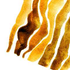 illustration depicting the striped background texture yellow and gold color. diagonal direction, watercolor