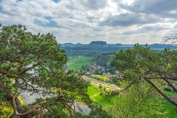 The Elbe Sandstone Mountains in Germany, Europe