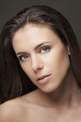 sensual young woman close-up portrait