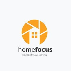 Home Focus logo,real estate logo, Photography logo