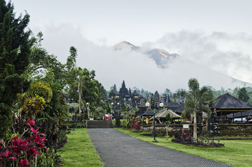 besakih temple famous landmark attraction in bali indonesia