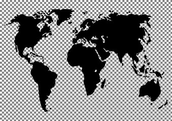 World map vector illustration on the background