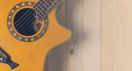 Country acoustic Guitar background in vintage tone