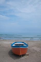 beautiful boats on the beach Sinigallia