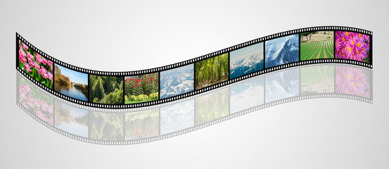Film made with various nature photos