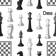 Chess board. Game. Pattern