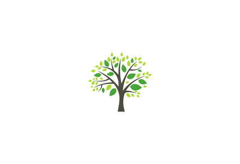 green tree environment nature logo