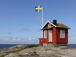Lotsenhaus auf der Schäreninsel Vrångö an der schwedischen Westk