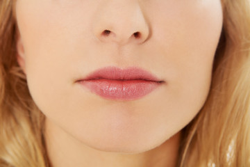 Close up photo of woman's lips