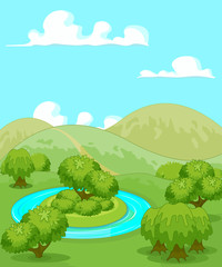 Magic Rural Landscape