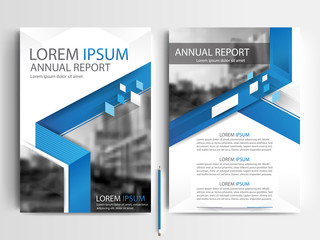 Blue Abstract vector modern flyers brochure / annual report /design templates / stationery with white background in size a4