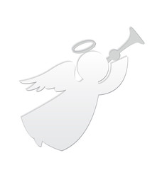 White angel vector logo