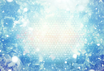 cold winter ice modern and mix structure elements background