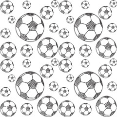 pattern with soccer balls