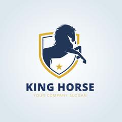 King Horse Logo,animal logo brandidentity