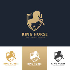 King Horse Logo,animal logo brandidentity