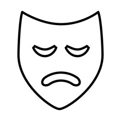 theater mask isolated icon design