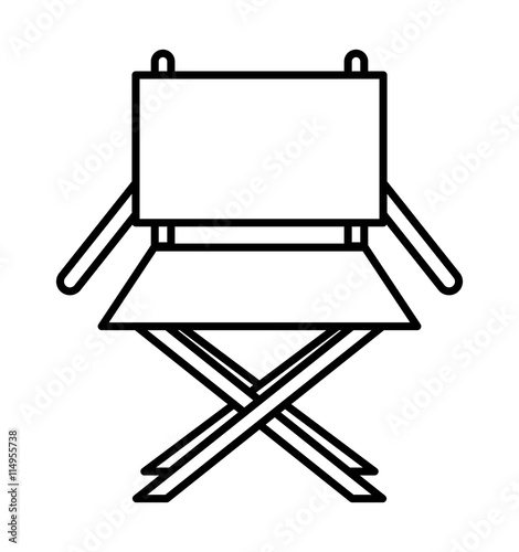 Director chair isolated icon design stock image and for Chaise de realisateur