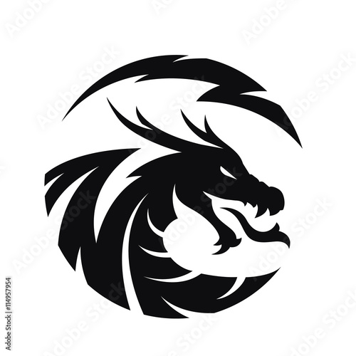 dragon logo stock image and royalty free vector files on fotolia